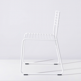 The TBC Wire Chair by Adam Lynch is an outdoor chair