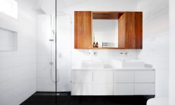 Brighton East Interior - Timber Bathroom Cabinet - Dan Gayfer Design - Interior Archive