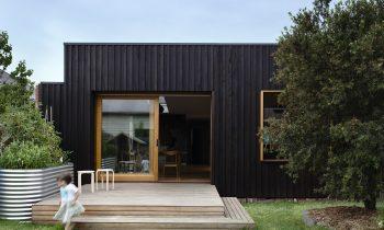 Exterior Timber caldding dark timber shot by Derek Swalwell, Australian Architecture