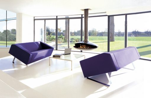 Purple Lounge - OBELISK Upholstered Sofa Collection - Ross Didier - Heidelberg West, VIC, Melbourne - The Local Project