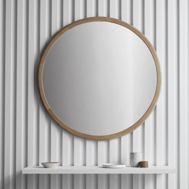 The AOM Mirror is designed and made locally by Brunswick-based Victorian furniture designer Nick McDonald of Made by Morgen.
