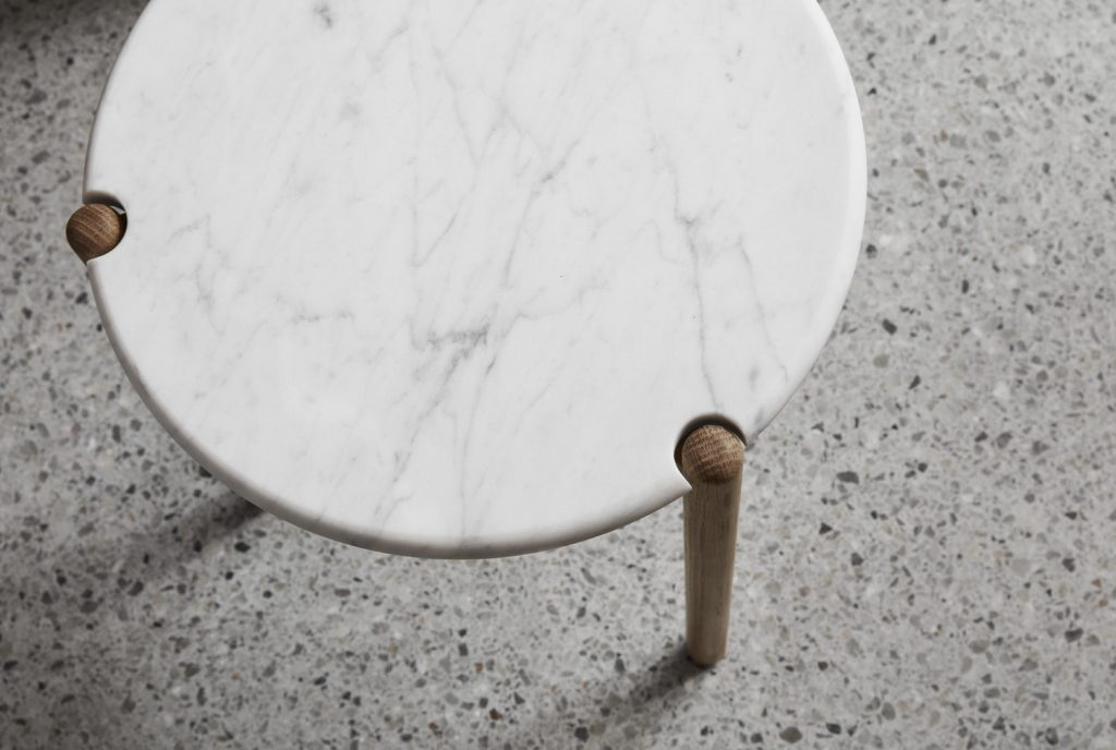 Aos T Timber Or Marble Side Table By Made By Morgen Local Design