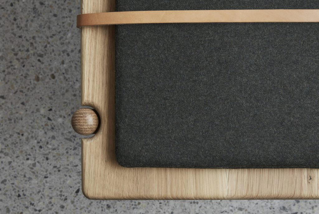 bird eye detailing of the AOS-B bench seat by Brunswick designer Made by Morgen