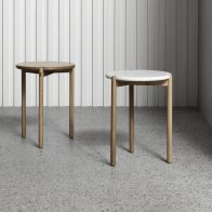 AOS-T Timber or Marble Side Table by Made by Morgen - Local Design