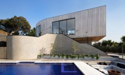 Parkside Beach House Features Concrete, Timber And Brick Throughout The Building