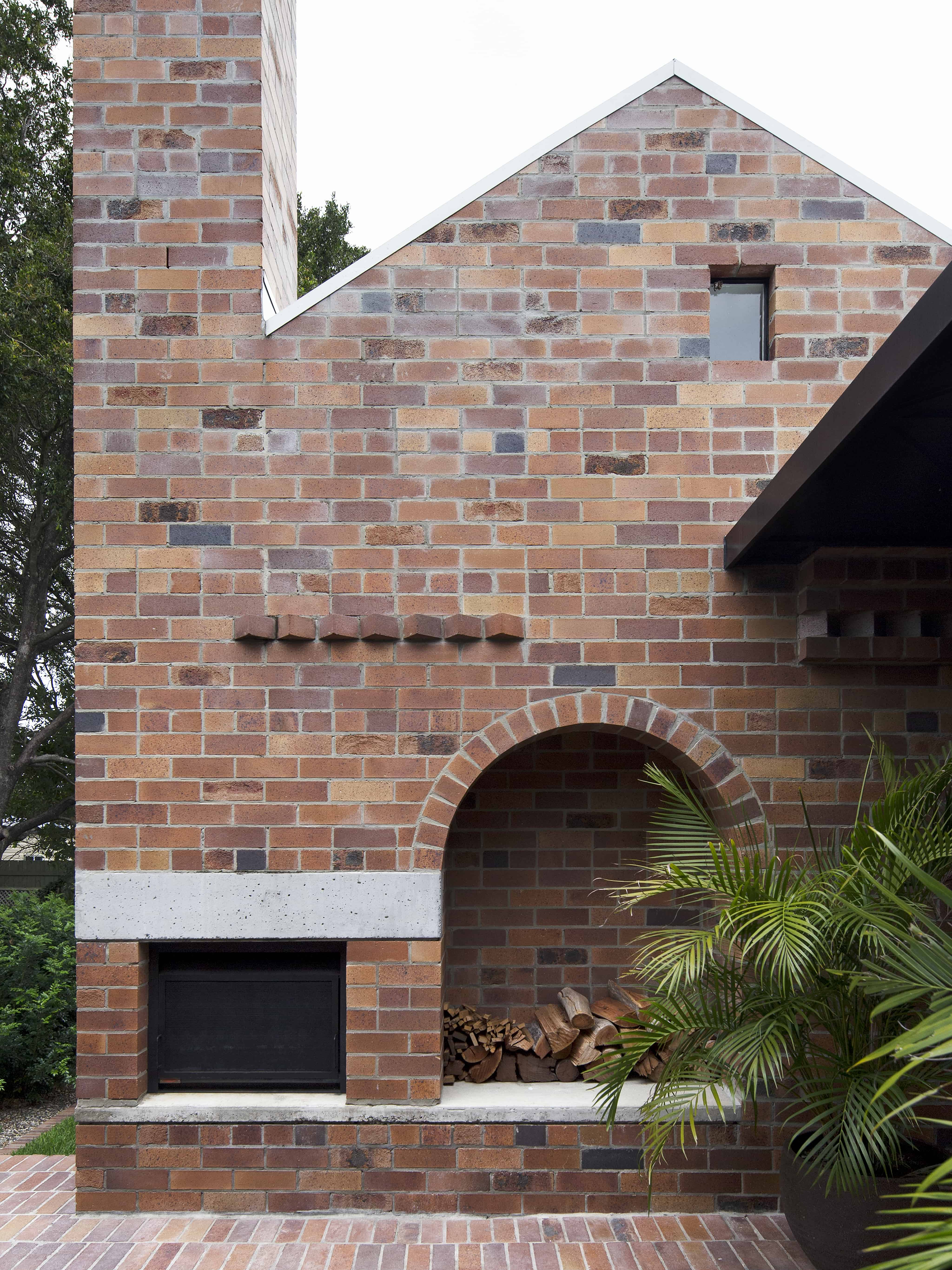 Locally Sourced Natural Materials Were Used In The Design Of The Home.