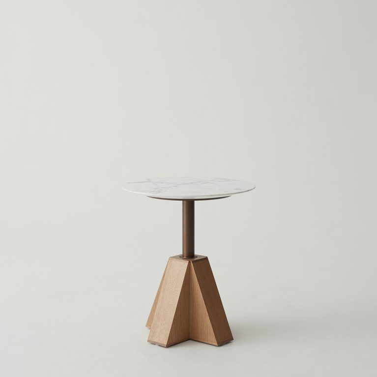 Australian Handmade American Oak And Marble Tables And Chairs