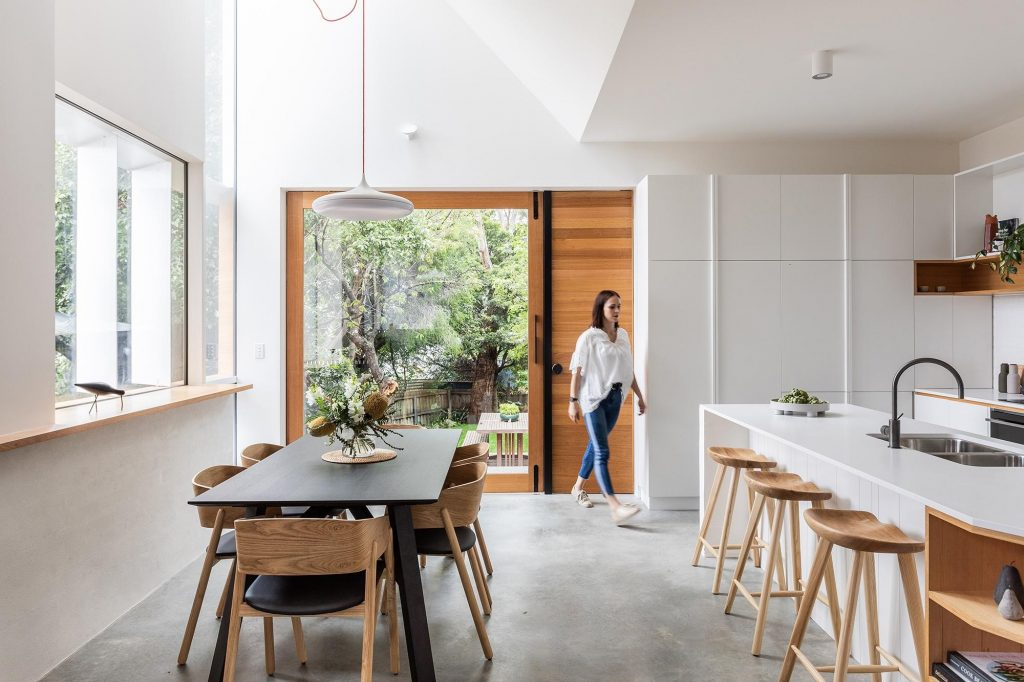 A Restrained, Neutral Palette Of White, Concrete And Tasmanian Oak Harmonises