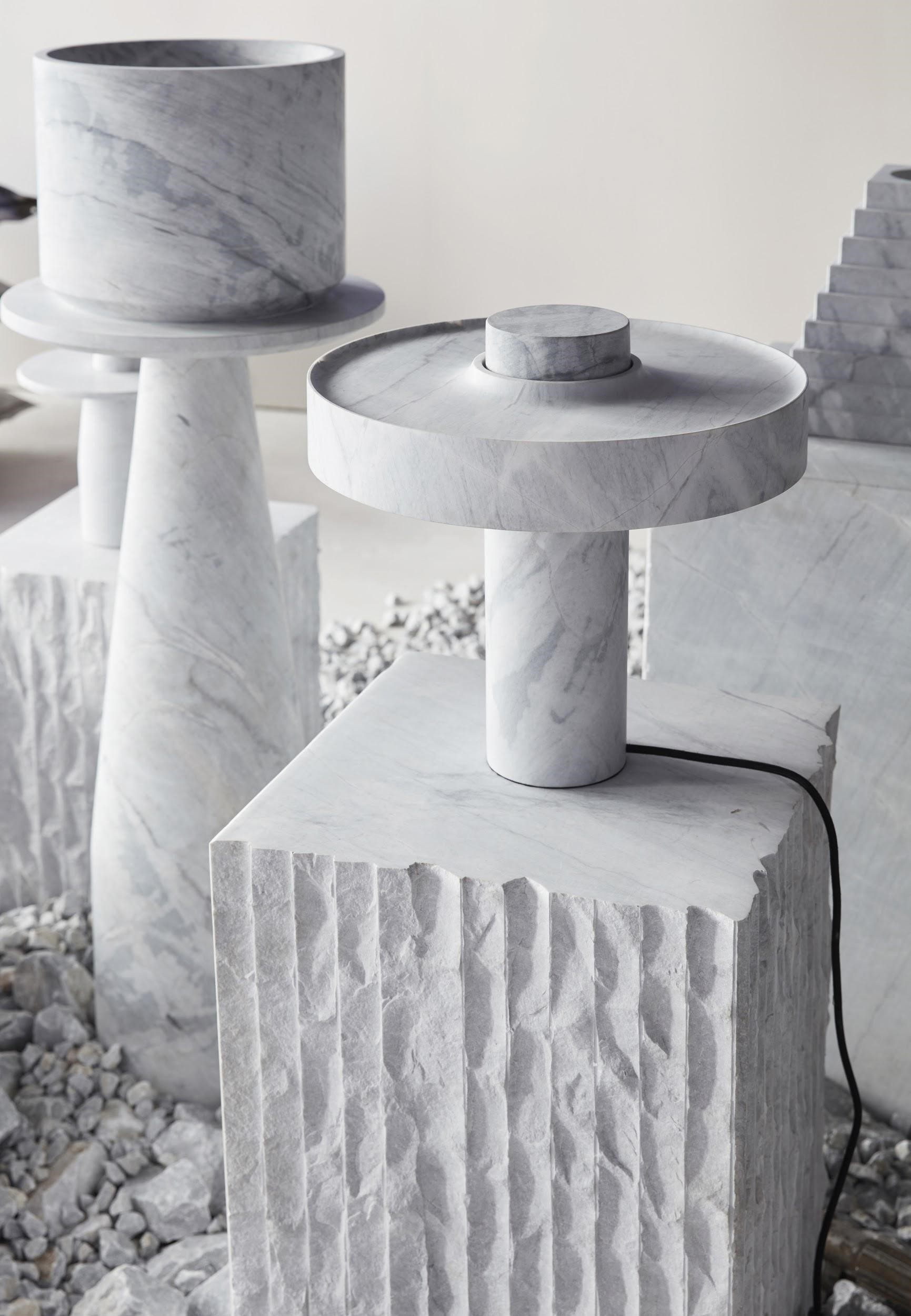 Rough Hewn Blocks Of Elba Are Juxtaposed With The Clarity Of The Designs From The New Volumes Collectio