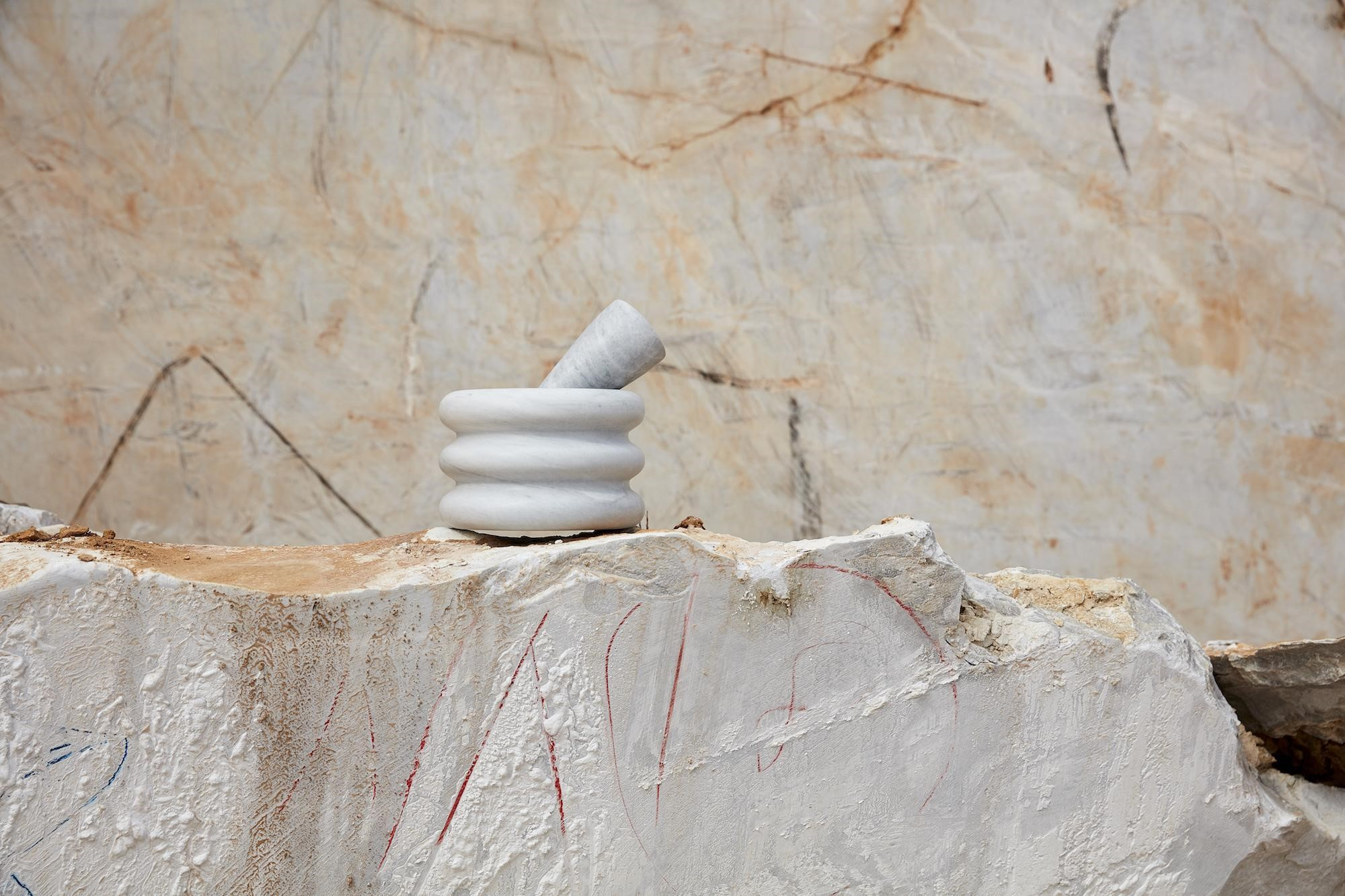 Exhibited In The Tdf Gallery, Rough Hewn Elba™ Plinths Quarried In Greece Are Contrasted With The Organ