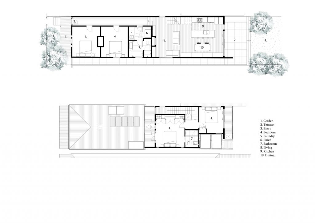 Double Height Spaces, Established Above The Staircase And Dining Room Table
