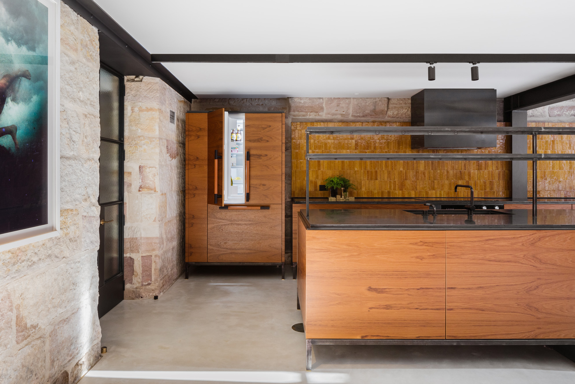 The Kitchen And Scullery Consist Of Several Freestanding Pieces, Including A Kitchen Island, Bench Units And A Fridge 'block'