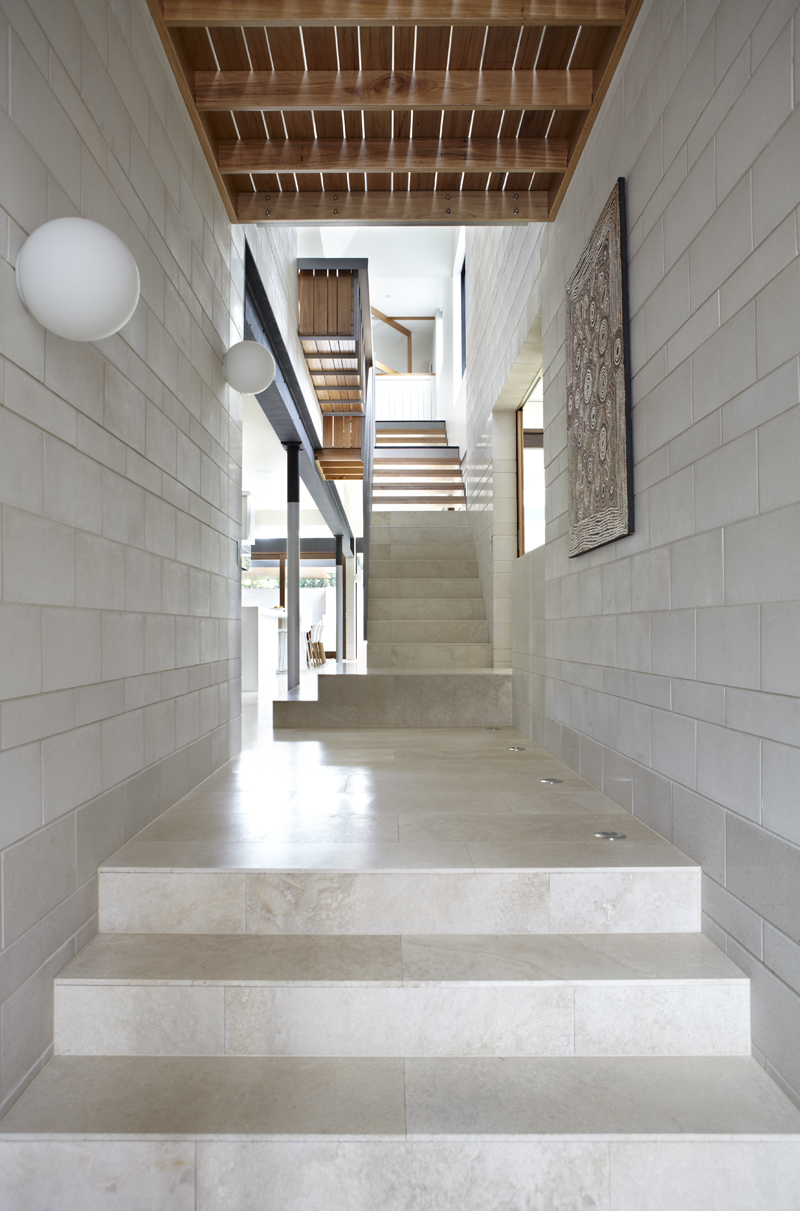 The Clayfield House Consists Of A Hierarchy Of Volumes, Big And Small, High And Low All Are Organised Around The Central Courtyard, Which