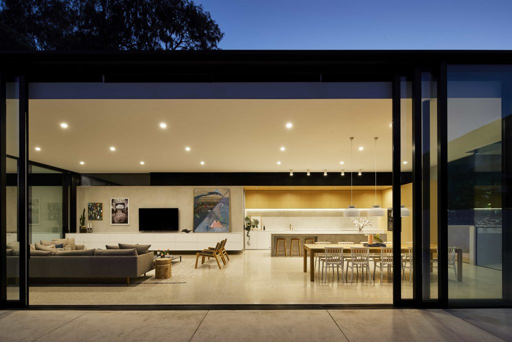 Contrasting The Front Portion Of The Home, The Rear Is Elegantly Crafted To Include A Light Filled Kitchen And Liv