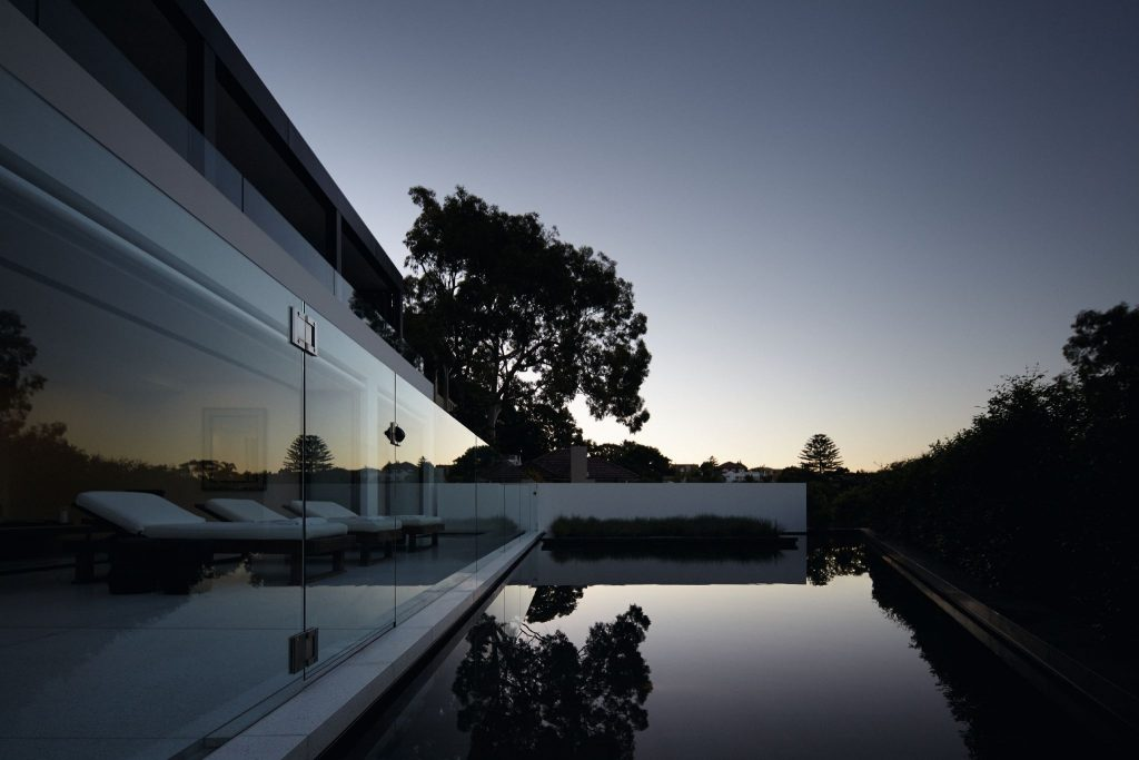 The Residence Is Entered At The Upper Level With An Expansive Living Space