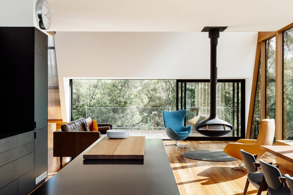 Juxtaposed With The Lightness Of Both The View And Timber Window Frames Opposite