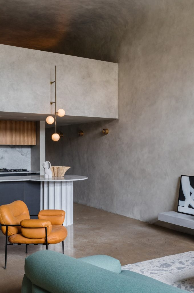 """Conceived Of As A """"concrete Bunker"""", The Shell Of The Apartment Has Been Informed By The Designer's Penchant For Brutalist Architecture."""