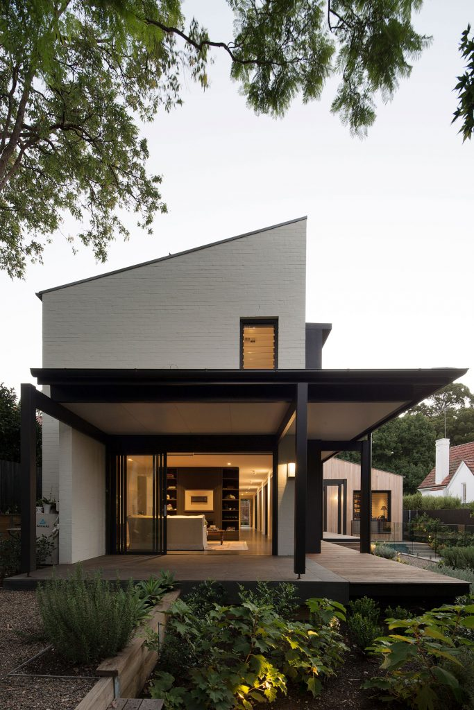 Taking Inspiration From The Gable Form, The Overall Is Separated Through An Internal Courtyard And Walkway.