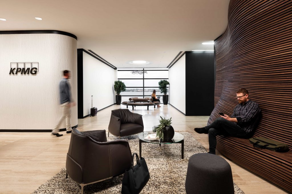 Extraordinary Timber Design – Kpmg Reception Wall By Jack Flannagan