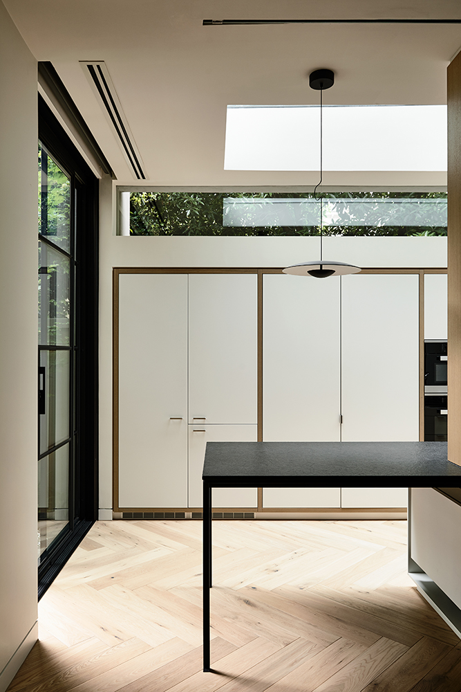 Although The Design Works Within The Constraints Of The Existing Structure, As A Means To Maintain The Street Frontage, The Extent Of