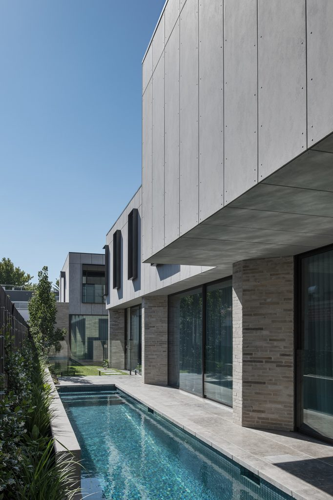 On Approach From The Street, The Façade Is Comprised Of A Solid Brick Configuration, Punctuated By Glazing, Where The Method Of Hit And M