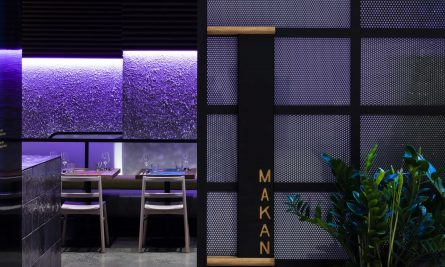 Rather Than Acknowledge The Adjacent Corporate Space, The Design Turns Its Back And Customers Are Forced To Pull Open The Large Perforated Metal Door To