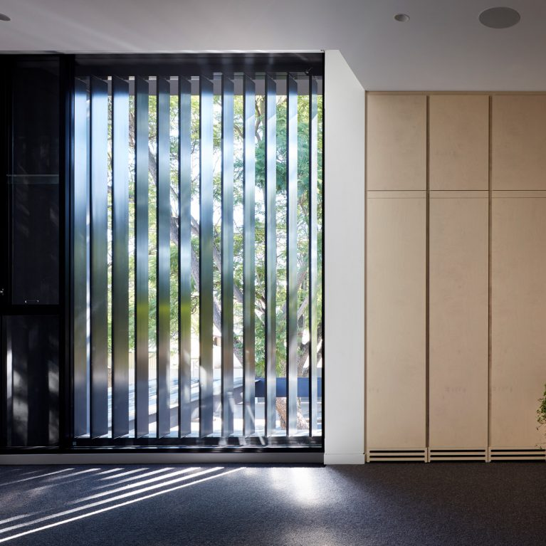 The Linear Glass Formal Element Allows For A Sense Of Relief Between The Two Styles