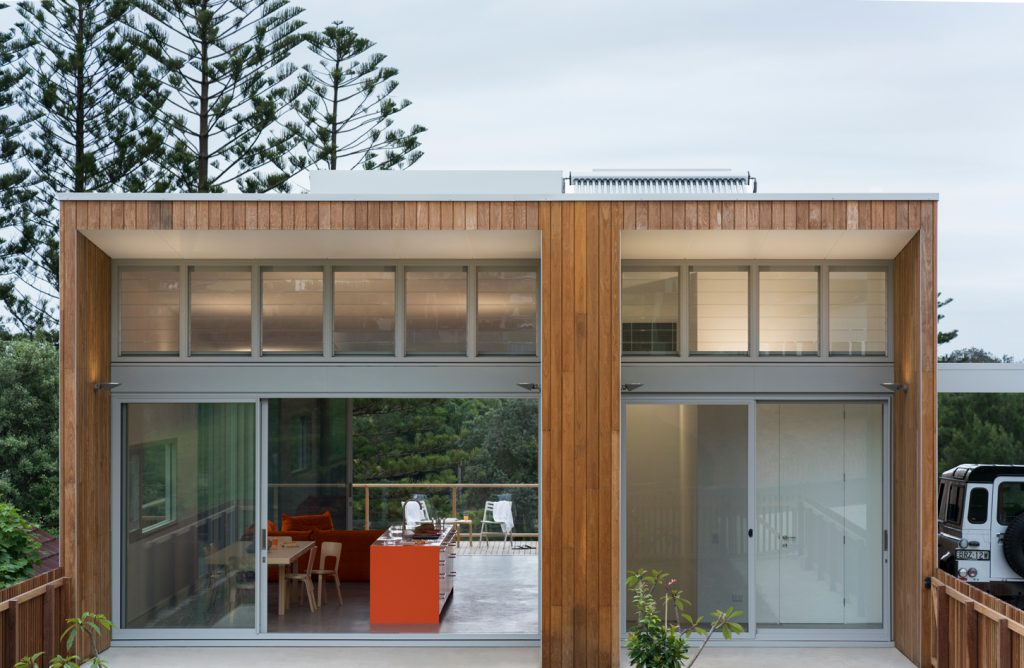 The Plan Of The House Is Divided Centrally By A Thick Wall That Houses The Kitchen And Storage Zones