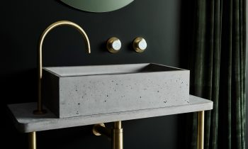 The Wolff Vanity Unit, Sepp Concrete Basin, Elle Hob Mixer Style Tap, Mila Taps, Cape Barren Outlet Spout, And Lily Taps