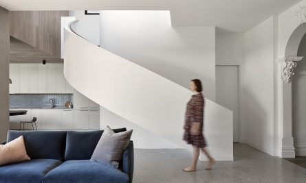 The Singular Form Of The Extension Is Defined By The Rhythm And Repetition Of Curved Elements That Are Used As Simple, Broad Sweeping Gest