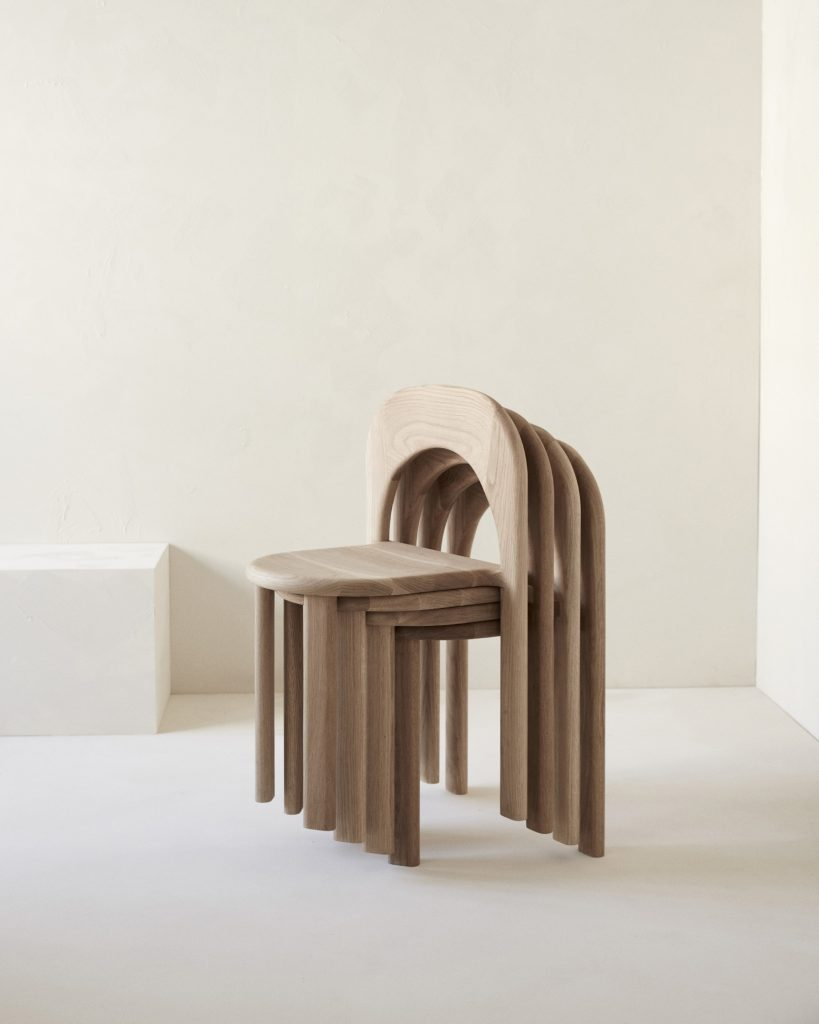 The Odie Chair Is A Stackable Solid American Oak Chair