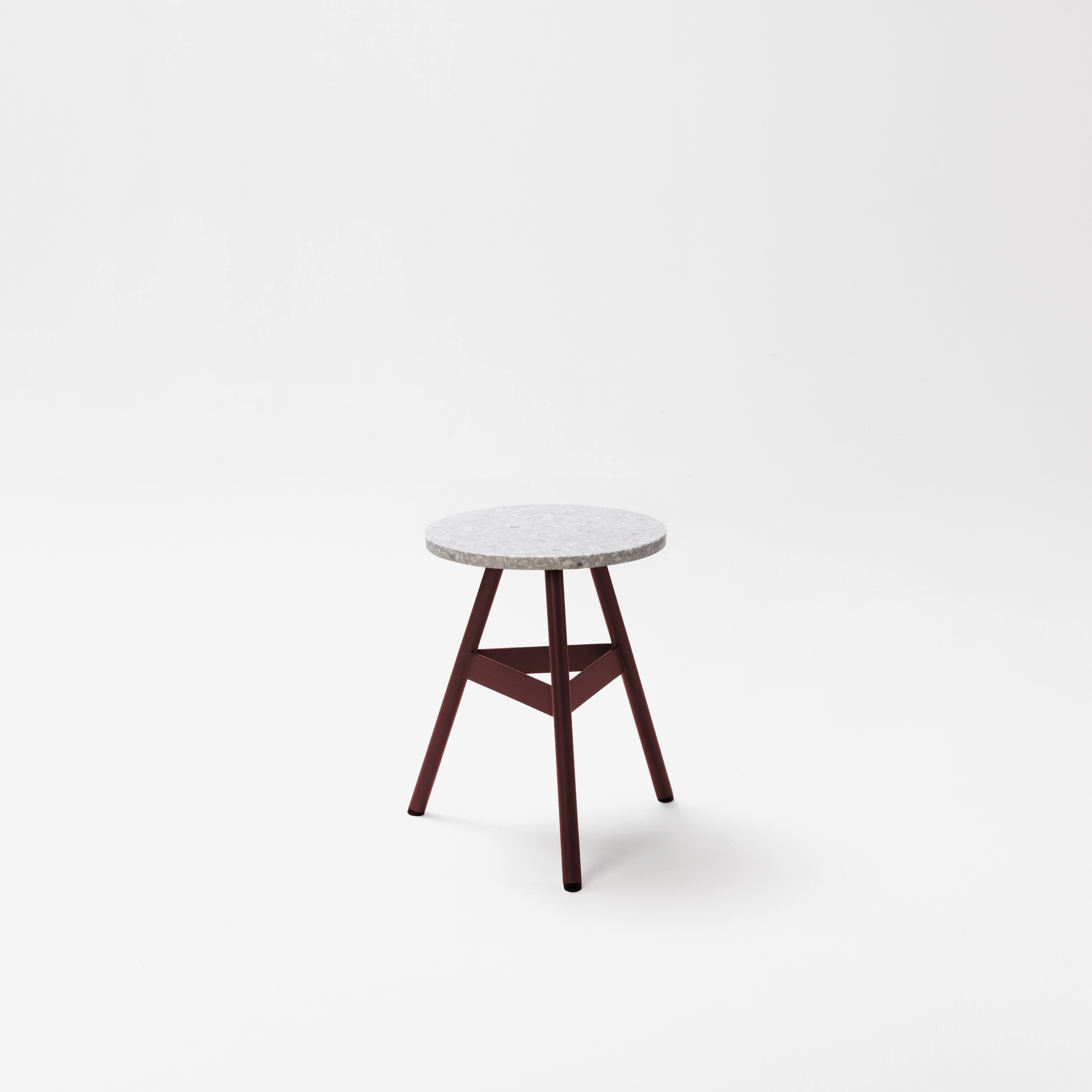 Tre Mezzo Stool By Bisaol Terrazzo Top Indoor Stool Dining Counter Bar