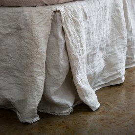 Linen Bedskirt Basix Sable Detail Copy