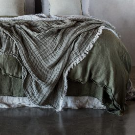 Armee Crush Linen Throw