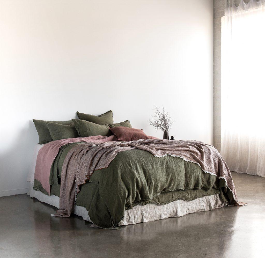 Hale Mercantile Co. Linen Armee Rosa Bed Side