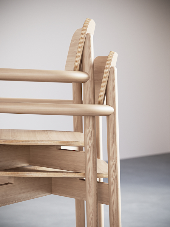 2 2. Jasny Arm Chair.stacking Close Up