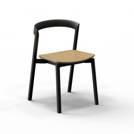 2 Of 9 Stacking Chair With Plywood Seat 01