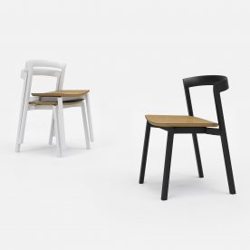 2 Of 9 Hover Stacking Chair With Plywood Seat