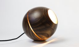 Ilanel Saturn Tablelamp Walnut 1