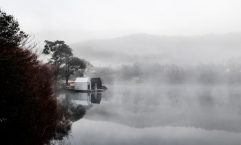 From Land To Lake Floating Sauna By Licht Architecture South Mount Cameron Tas Australia Image 05