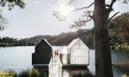 From Land To Lake Floating Sauna By Licht Architecture South Mount Cameron Tas Australia Image 15