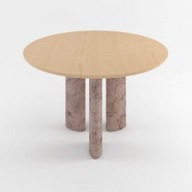 The Geo Round Dining Hall Tables By Daniel Boddam Studio Image 01