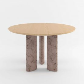The Geo Round Dining Hall Tables By Daniel Boddam Studio Image 02