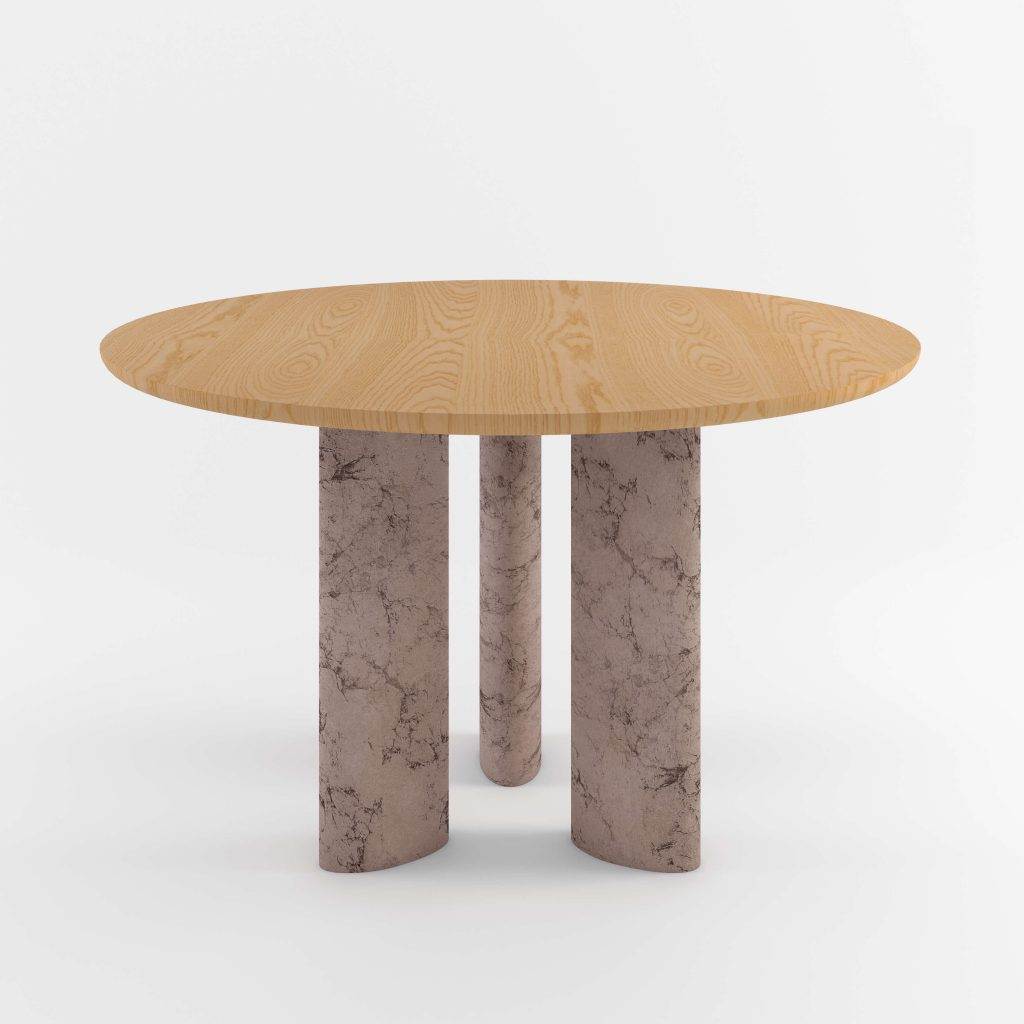 The Geo Round Dining Hall Tables By Daniel Boddam Studio Image 04