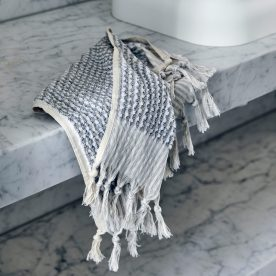 Grey & White Wave Hand Towel By Loom Towels Product Directory The Local Project Image 06
