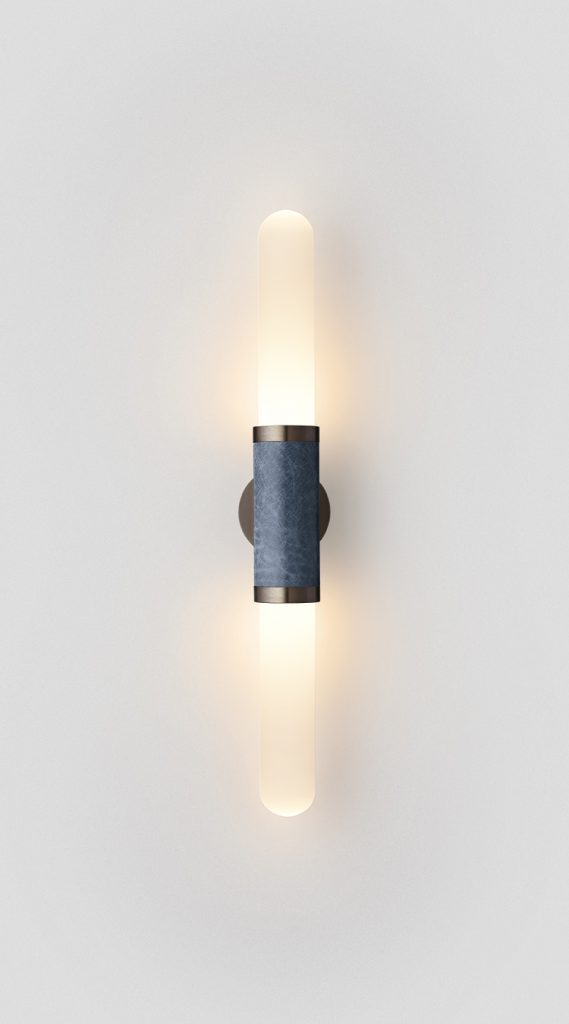 Scandal Short Wall Sconce By Articolo Lighting Product Directory The Local Project Short White Frost Glass Blue Mid Bronze Fittings On