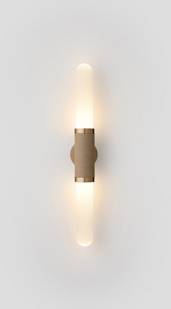 Scandal Short Wall Sconce By Articolo Lighting Product Directory The Local Project Short White Frost Glass Brass Silver Mesh Brass Fittings On
