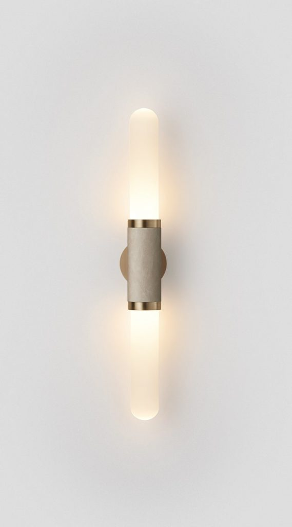 Scandal Short Wall Sconce By Articolo Lighting Product Directory The Local Project Short White Frost Glass Leather Fittings On