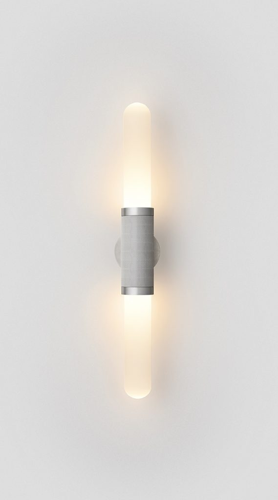 Scandal Short Wall Sconce By Articolo Lighting Product Directory The Local Project Short White Frost Glass Silver Mesh Satin Nickel Fittings On