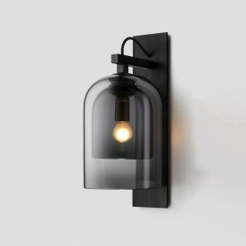 Lumi Wall Sconce By Articolo Lighting Product Directory The Local Project Grey Grey Opaque Black Black Weave Black Flex On